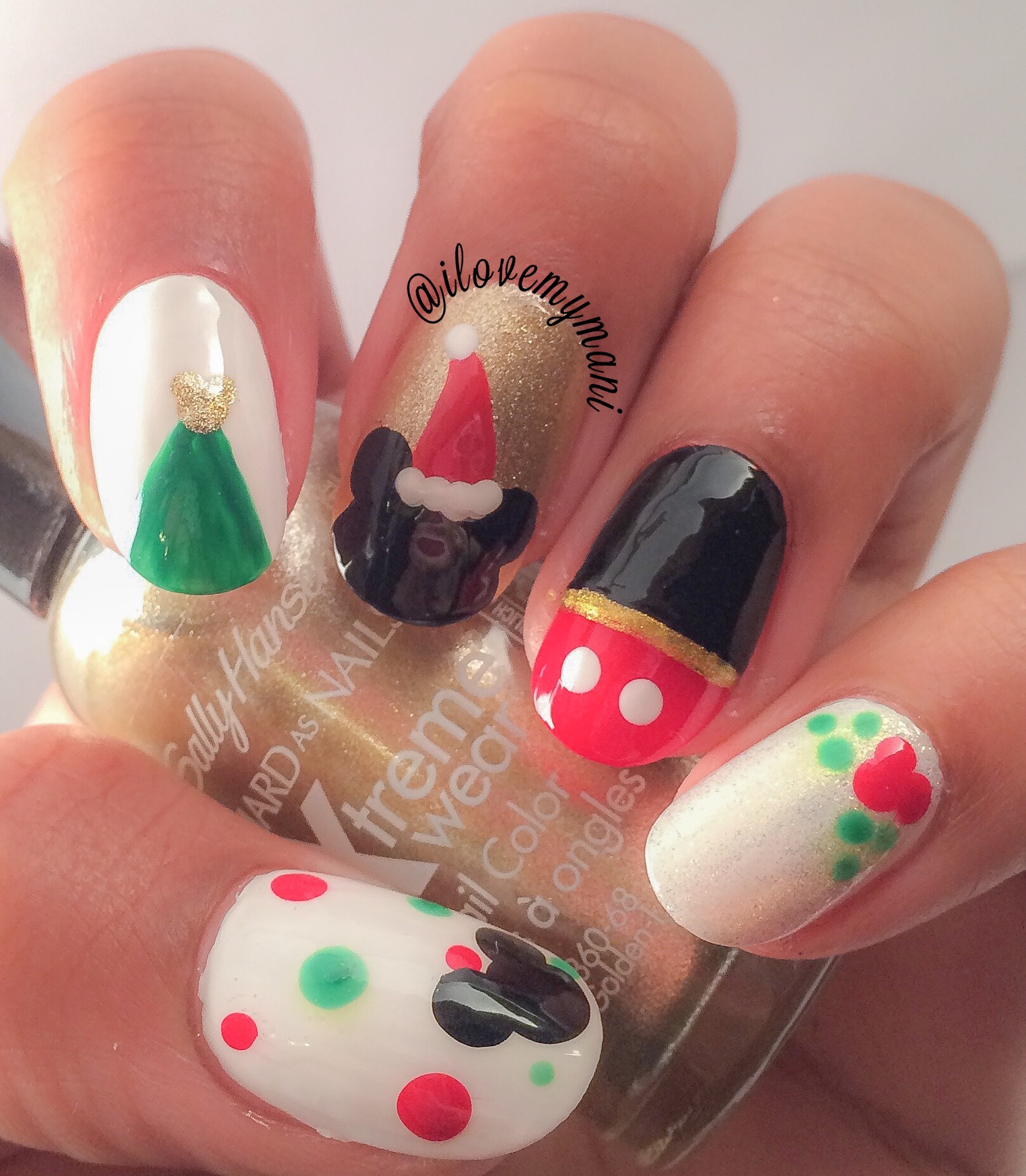 christmas mickey mouse nails - Youtube Mickey Mouse Christmas