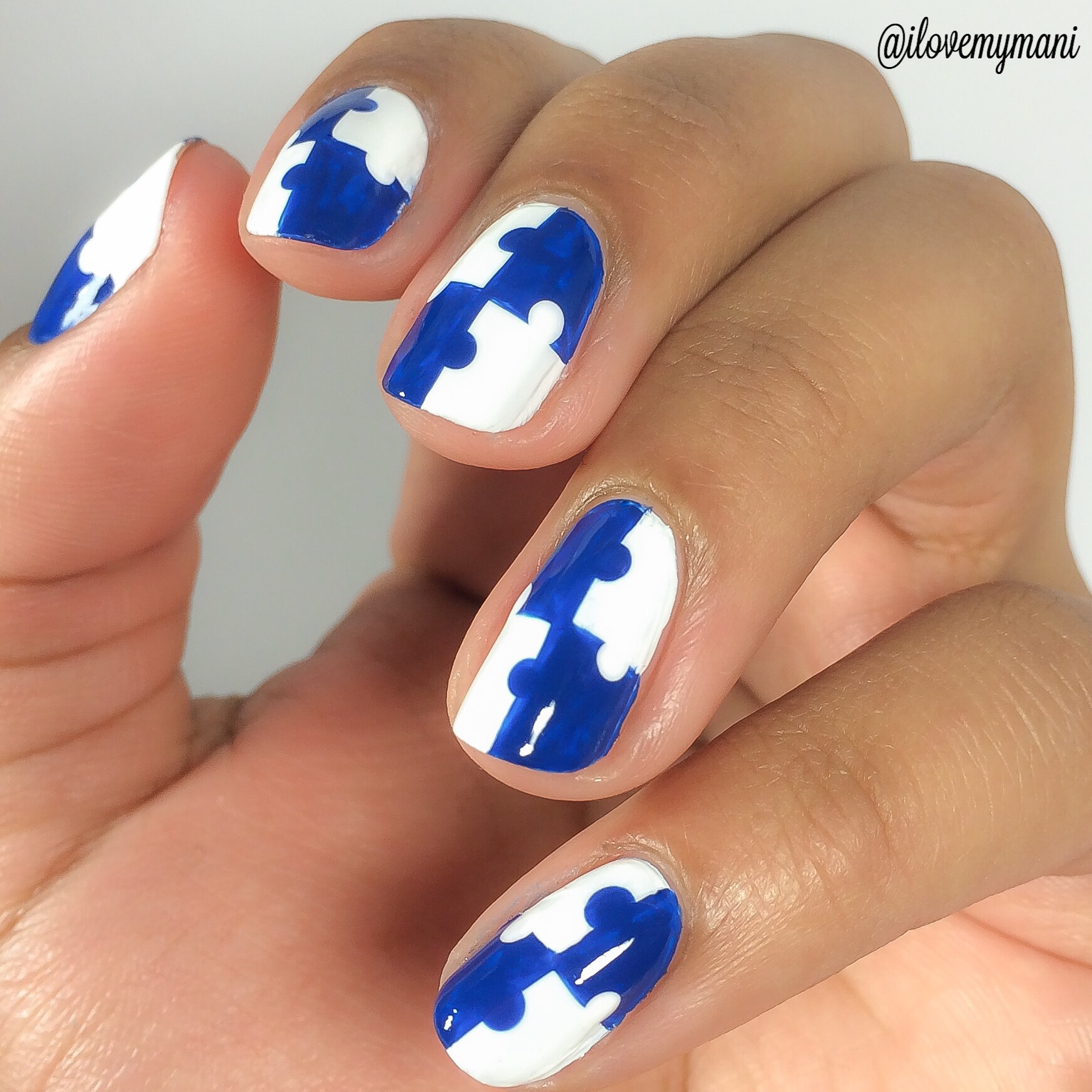 Autism awareness nail art pictorial i love my mani autism awareness nail art pictorial prinsesfo Images