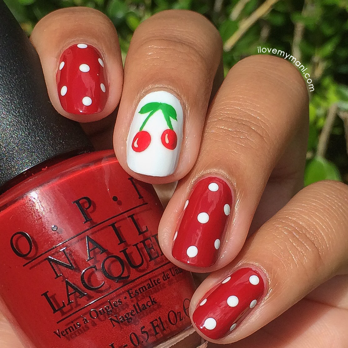 Cherry Nail Art - Cherry Nail Art With Pictorial I Love My Mani